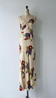 1d043293edd Piazza gown 1930s floral dress vintage 30s dress