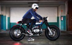 Beautiful BMW R100 Cafe Racer - Dani Coello Delgado. Que guapo el rollo y estilo que tiene esta #BMW. Manillar clubman y piloto trasero LED integrado #caferacer #motorcycles | caferacerpasion.com