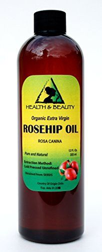 Rosehip Seed Oil Organic Unrefined Extra Virgin Cold Pressed Raw Premium Pure 12 oz -- This is an Amazon Affiliate link. You can find out more details at the link of the image.