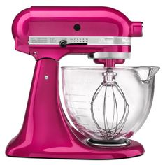 KitchenAid KSM155GBRI Raspberry Ice 5-quart Artisan Tilt-Head Stand Mixer (Raspberry), Pink (Metal)