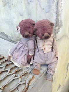 Jim By Moshkina Elena - Jim. Teddy bear sewn from viscose, painted by hand…
