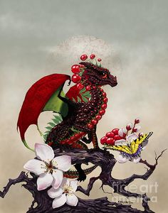 Cherry Dragon is a piece of digital artwork by Stanley Morrison.