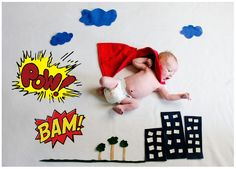 Newborn Baby Superhero By Bonnie Bowman Photography