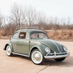 1957 Volkswagen Beetle Oval Window - Solid Arizona/California VW - Final year for oval-window Beetles - Beautifully restored in factory Pastel Green paint with a light beige interior, comple...