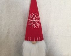 Fergus the Christmas Gnome Swedish Tomte by Gnomes4theHolidays