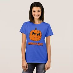 Mondays Suck Pumpkin T-Shirt - Halloween happyhalloween festival party holiday
