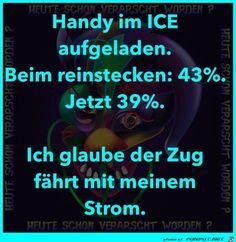 Handy aufgeladen im ICE