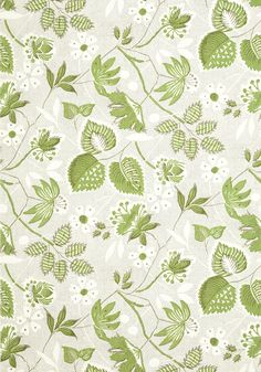 Go Green, Hazel Green, Anna French Wallpaper, Coordinating Fabrics, Timeless Design, Material, Beige, Floral, Collection