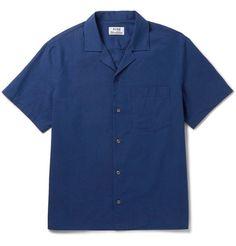 ACNE STUDIOS Ody Camp-Collar Cotton Shirt. #acnestudios #cloth #casual shirts
