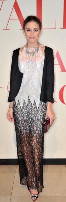 Olivia Palermo: Dress – Valentino    Shoes – Manolo Blahnik