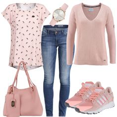 Leisure Outfits: Pinki at FrauenOutfits. Teen Girl Outfits, Cute Outfits For Kids, Outfits For Teens, Plus Size Outfits, Country Outfits, Casual Fall Outfits, Spring Outfits, T-shirt Und Jeans, Cute Outfits With Leggings