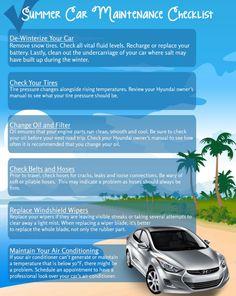 Car Maintenance Checklist for Summer #infographic