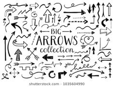 Find Set of hand drawn unique doodle arrows. Stock Images in HD and millions of other royalty-free stock photos, illustrations, and vectors in the Shutterstock collection. Graphic Design Branding, Modern Graphic Design, Doodle Arrows, Arrow Drawing, Hand Drawn Arrows, Illustrations, Royalty Free Images, Design Elements, How To Draw Hands