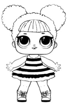 Coloring pages LOL dolls. Print free coloring pages for all series. Baby Coloring Pages, Unicorn Coloring Pages, Coloring Pages To Print, Coloring Pages For Kids, Coloring Sheets, Coloring Books, Disney Drawings, Art Drawings, Doll Drawing