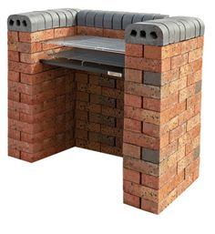Blooma Nordend DIY Charcoal Barbecue - you do have I buy the ricks & mortar separately though!! Paint the bricks £25