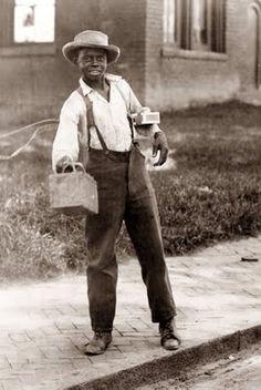 1899 Savannah Ga. young shoe shine boy.