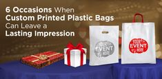 Explore these 6 innovative ways when custom printed plastic carrier bags, logo printed carry bags and screen printing d-cut retail bags can leave a lasting impression. Plastic Shopping Bags, Paper Shopping Bag, Custom Plastic Bags, Plastic Carrier Bags, Retail Bags, Packing Supplies, Carry On Bag, Gift Bags, Screen Printing