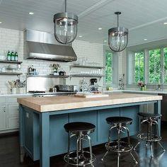 Maple Butcher Block Countertop, Contemporary, kitchen, Fivecat Studio