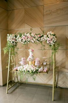 Unique Dessert Station. Perfect for a bridal or baby shower.