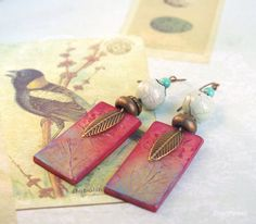Click here to buy now  Forest elf earrings Woodland fairy jewelry by CocoFlowerShop