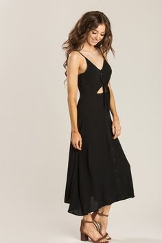 eddbb948d8a Caila Black Cutout Midi Dress - Morning Lavender Evening Attire