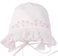 31d3044f5e6 Feltman Brothers Girls Pink Smocked Baby Bonnet Newborn 0 3 M   6 9 Months