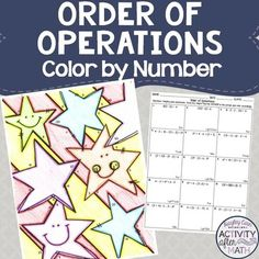 Order of Operations Color By Number by Hayley Cain - Activity After Math | Teachers Pay Teachers