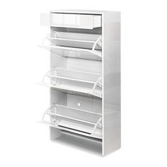 Mercier High Gloss Wooden Shoe Cabinet by Dwell Home. Get it now or find more Shoe Cabinets at Temple & Webster. Wooden Shoe Cabinet, Shoe Storage Cabinet, Under Cabinet, Neat And Tidy, Childrens Shoes, High Gloss, Shoe Rack, Storage Spaces