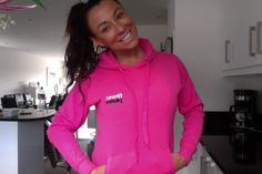 NEW Fitness Pilates Hoody Collection are in right now! Bright Fuscia and super cool for class  | Choreographytogo