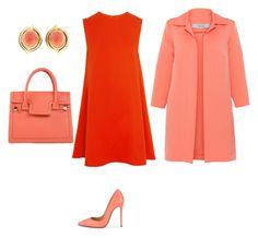 Peach by bianca-georgescu on Polyvore featuring polyvore, fashion, style, McQ by Alexander McQueen, D.Exterior, Christian Louboutin, Viktor & Rolf and clothing