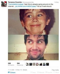 And this is why you should follow Torrance Coombs on Twitter. Hilarious.