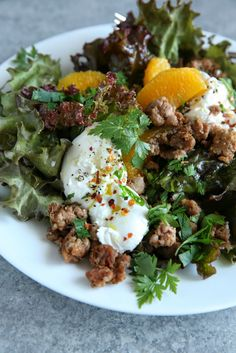 Crispy Sausage and Burrata Salad - use venison