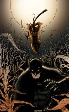 "insane-for-crane: "" Batman Halloween COLOR! by Mardoza "" Batman Vs, Batman Stuff, Superman, Scarecrow Batman, Batman Halloween, Comic Books Art, Comic Art, Batman Universe, Batcave"