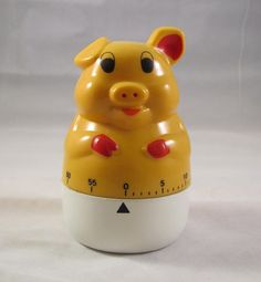 Yellow Pig Kitchen Timer