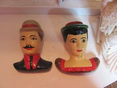 Mr & Mrs Chalkware Couple / 1950's Mr and Mrs by VintageLoversShop, $20.49