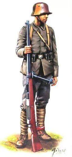 """1918 c. El """"Mauser Tank Gewehr""""-M1918, de 13.2x92mm, fué el primer y único fusil antitanque de la I G.M."""