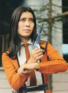 ULTRAMAN - Fuji Akiko (フジ・アキコ Fuji Akiko) is the main female member of the SSSP. Akiko is the only female member of the main SSSP team who's mainly in charge of communication. However, she was also seen in action on some missions.
