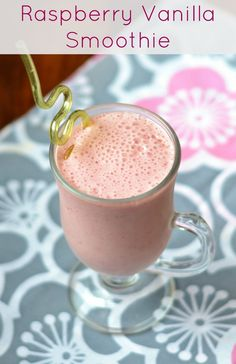 Raspberry Vanilla Smoothies from Real Food Real Deals