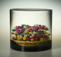 Basket of Dried Flowers Encased in Acrylic Flower Basket, Yard Sale, Dried Flowers, Things To Come, Internet, Antiques, Dry Flowers, Flower Preservation, Antiquities