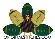 Football Turkey, Machine Embroidery and Applique Designs Downloads | Original Stitches - Embroidery and Applique Design Store