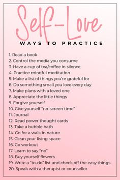 20 Ways to Practice Self Love Post Practicing Self Love, Self Love Affirmations, Learning To Love Yourself, How To Love Yourself, Self Care Activities, Self Love Quotes, Hard Quotes, Quotes Quotes, Qoutes