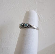 Dainty Navajo Vintage Pinky Ring in Sterling by PortalsMagicCloset, $39.00
