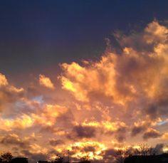 Sunset after a hard rain storm