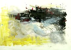 """""""When It's Dark""""   Mixed media on paper   85 x 105 cm   2011 #lyrical #abstract #paintings"""