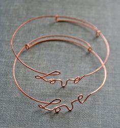 Wire Love Bracelets~~~~~~~