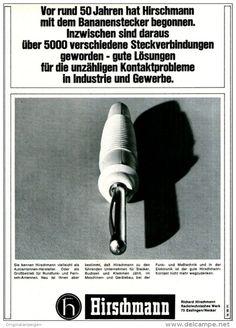 Original-Werbung/ Anzeige 1969 - BANANENSTECKER / HIRSCHMANN - ca. 180 x 240 mm