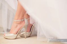 Champagne sparkly wedding shoes with bling #nordstrom