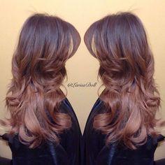 Pinkish-Brown Hair Color