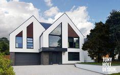 Bungalow Renovation, Bungalow Exterior, Modern Farmhouse Exterior, Dream House Exterior, Modern Craftsman, House Extension Design, House Front Design, Facade Design, Exterior Design