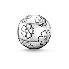 Beads Pendant Sakura Large Hole For Women & Men Trendy Gift Thomas Style Karma Silver Charm Jewelry Fit Ts Bracelet Necklace Charm Jewelry, Fine Jewelry, Jewelry Making, Jewellery, Silver Charms, Sterling Silver Bracelets, Karma, Diy Accessoires, Thomas Sabo